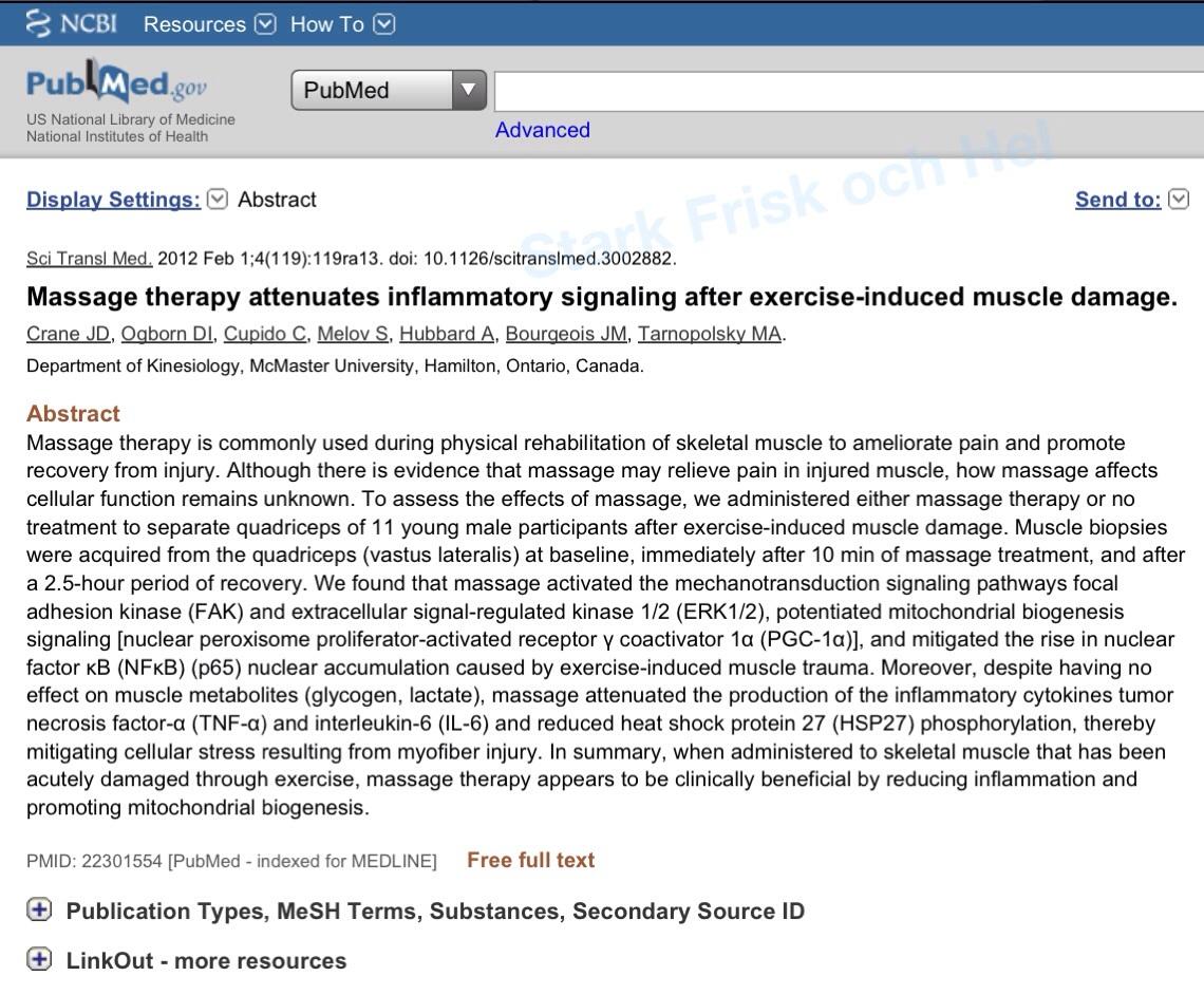 PubMed Massage Biopsi
